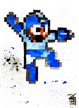 Purchase Mega Man Painting by Rob Schamberger