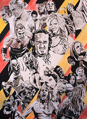 Purchase NXT TakeOver Painting by Rob Schamberger
