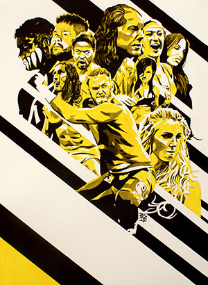 Purchase NXT TakeOver 2 Painting by Rob Schamberger