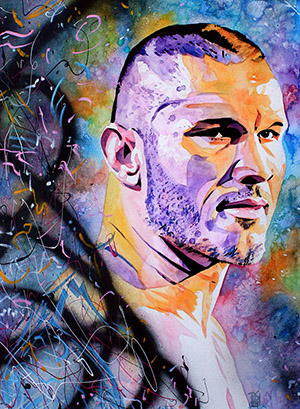 Purchase Randy Orton Painting by Rob Schamberger