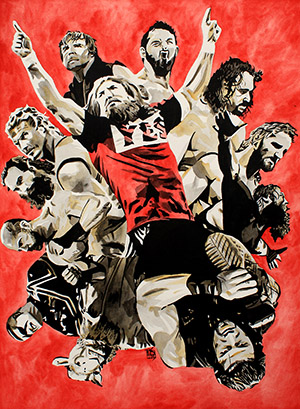 Purchase Royal Rumble 2015 Painting by Rob Schamberger