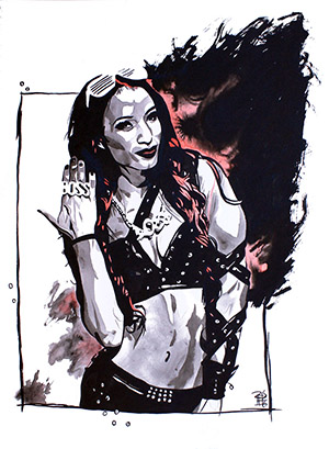 Purchase Sasha Banks Painting by Rob Schamberger