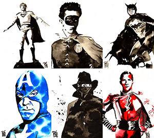 Purchase Saturday Morning Serials Print Set by Rob Schamberger