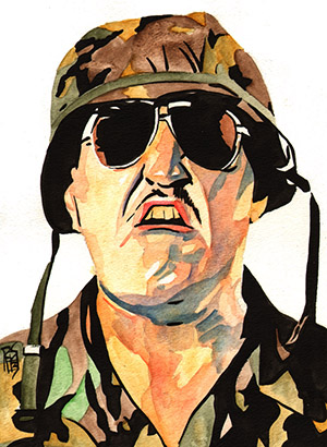 Purchase Sgt Slaughter Painting by Rob Schamberger