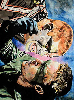 Purchase Stardust vs Green Arrow Painting by Rob Schamberger