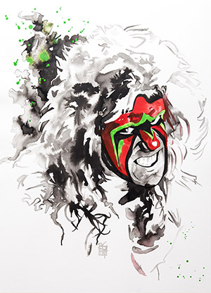 Purchase Ultimate Warrior Painting by Rob Schamberger