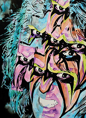 Purchase Fractured Ultimate Warrior Painting by Rob Schamberger
