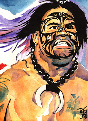 Purchase Umaga Painting by Rob Schamberger