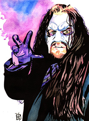 Purchase Masked Undertaker Painting by Rob Schamberger
