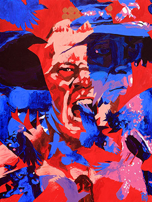 Purchase Brock Lesnar versus The Undertaker Painting by Rob Schamberger