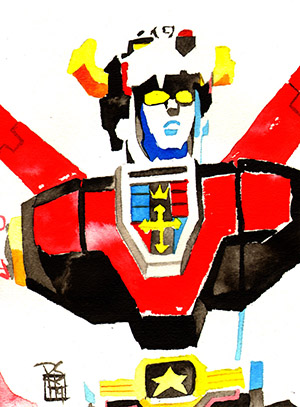 Purchase Voltron Painting by Rob Schamberger