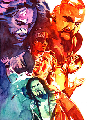 Purchase WrestleMania 11 Painting by Rob Schamberger