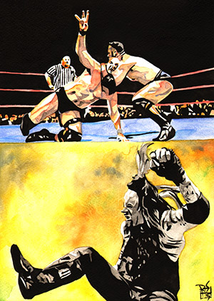 Purchase WrestleMania 15 Painting by Rob Schamberger
