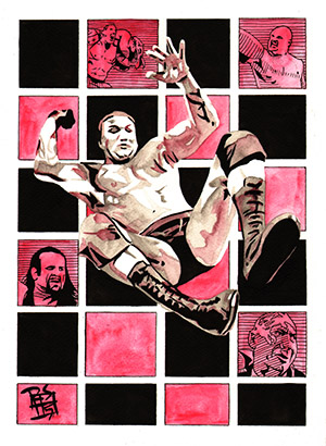 Purchase WrestleMania 23 Painting by Rob Schamberger
