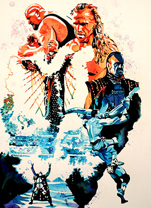 Purchase WrestleMania 24 Painting by Rob Schamberger
