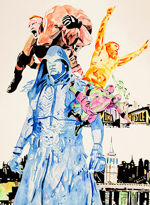 Purchase WrestleMania 29 Painting by Rob Schamberger