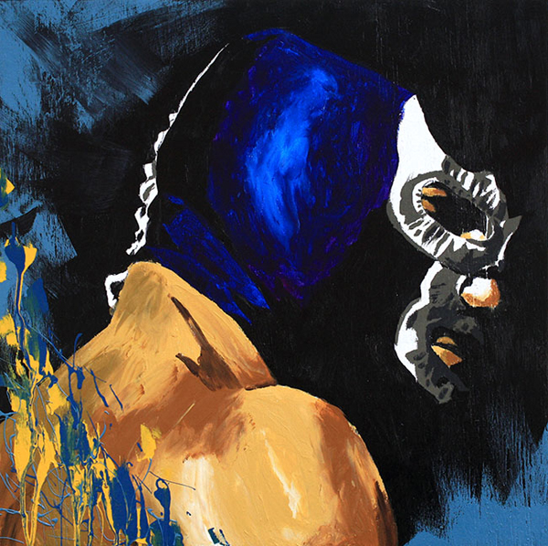 Blue Demon, Jr painting by Rob Schamberger
