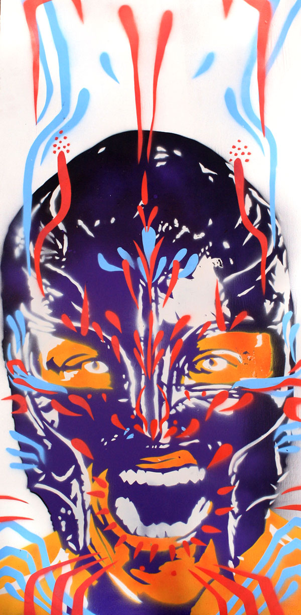 Rey Mysterio painting by Rob Schamberger