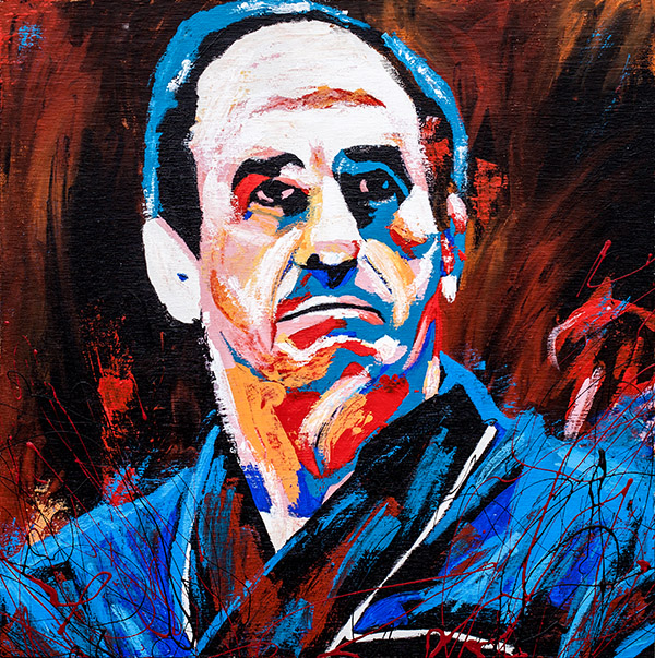 Lou Thesz painting by Rob Schamberger