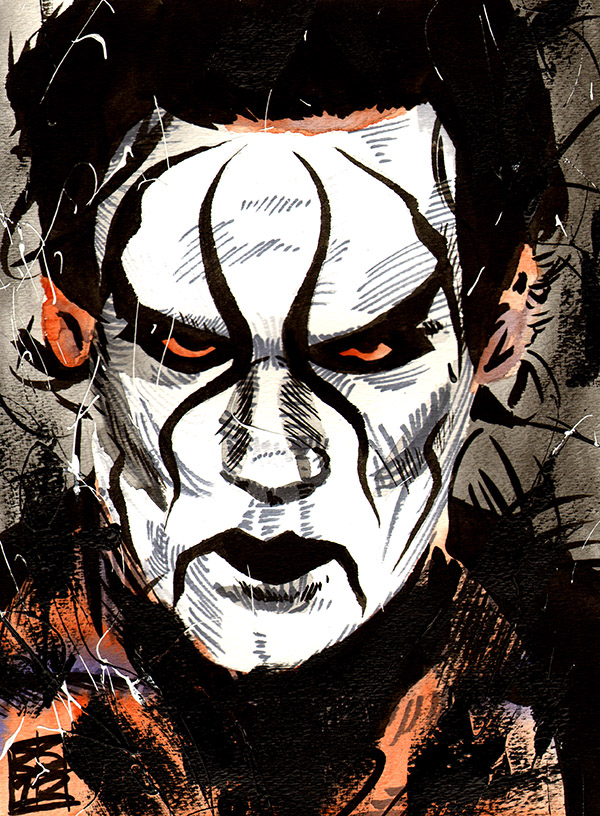Sting painting by Rob Schamberger
