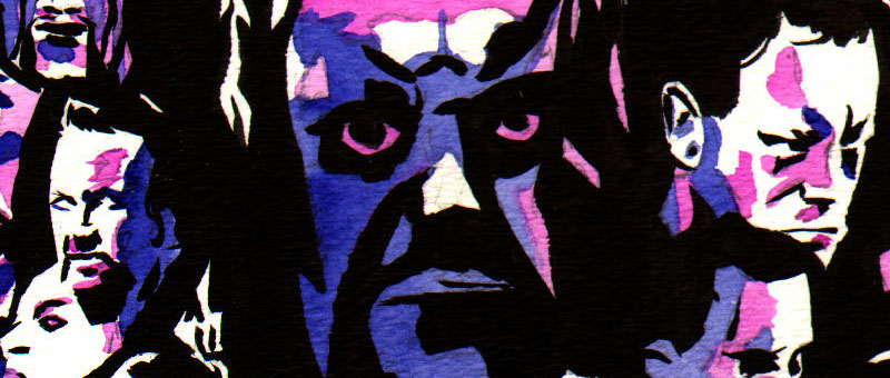 The Undertaker at Wrestlemania by Rob Schamberger