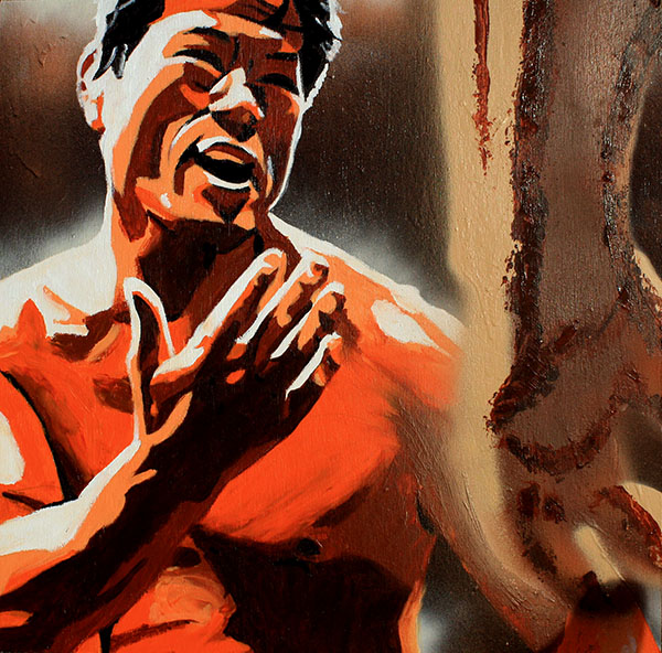 Antonio Inoki painting by Rob Schamberger