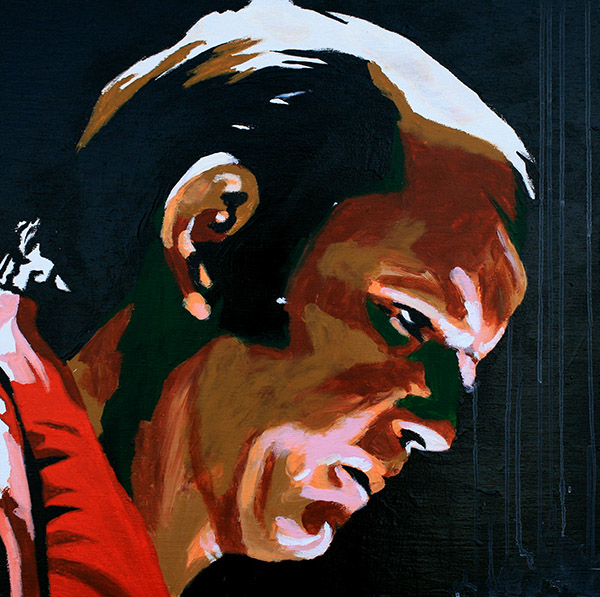 Dory Funk Jr painting by Rob Schamberger