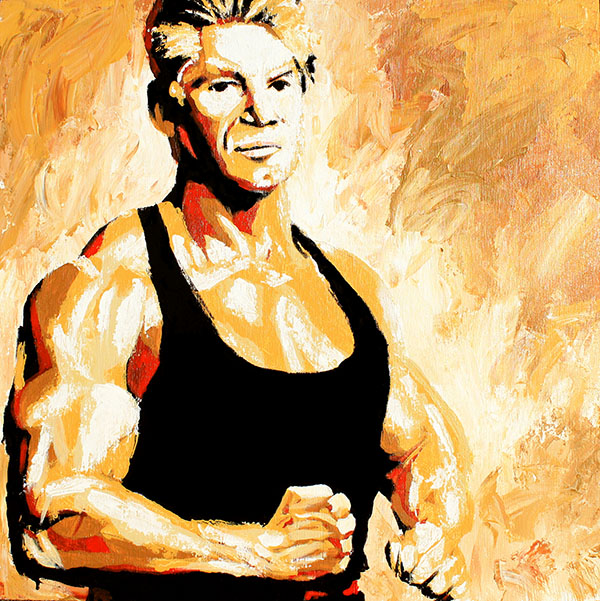 Vince McMahon painting by Rob Schamberger