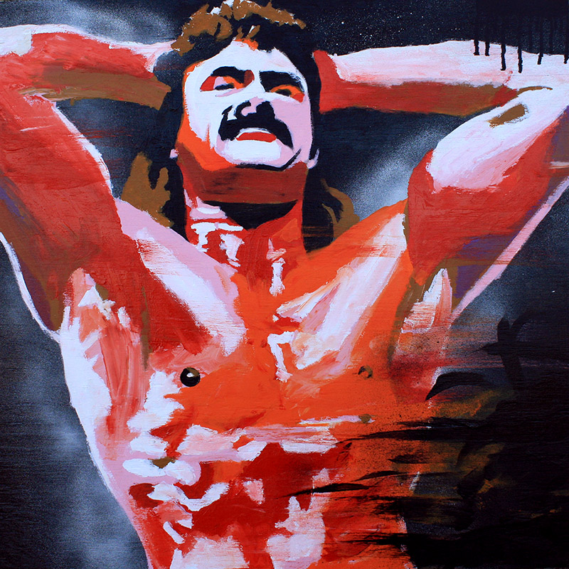 Rick Rude painting by Rob Schamberger