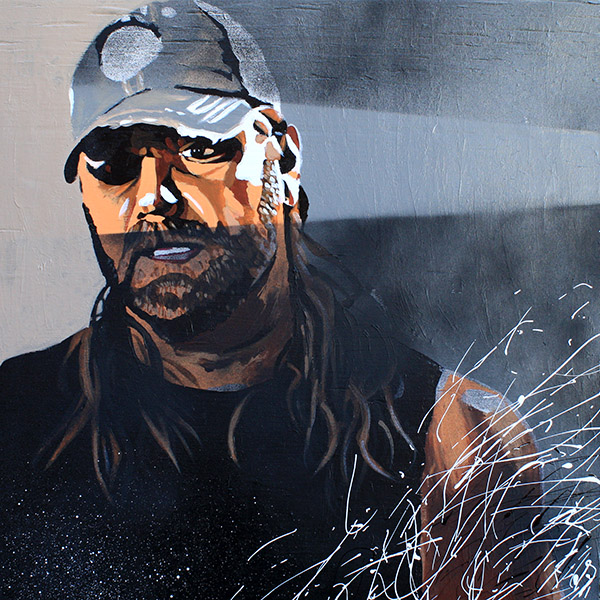 James Storm Painting by Rob Schamberger