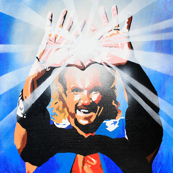 Diamond Dallas Page painting by Rob Schamberger