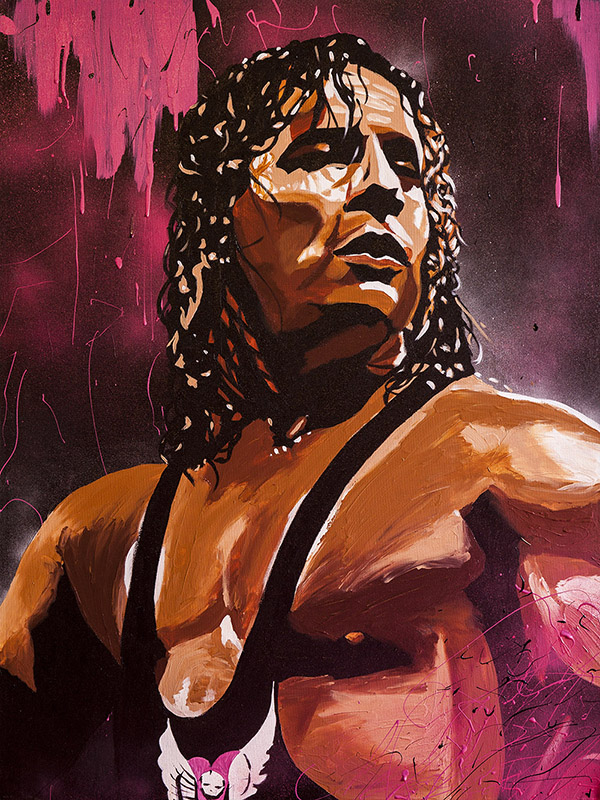 Bret Hart painting by Rob Schamberger