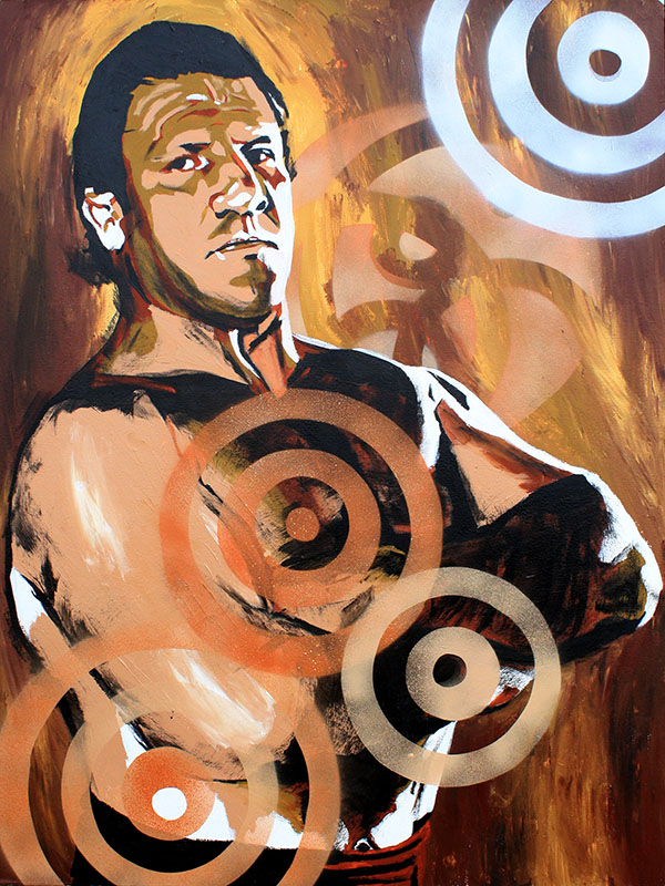 Bruno Sammartino painting by Rob Schamberger