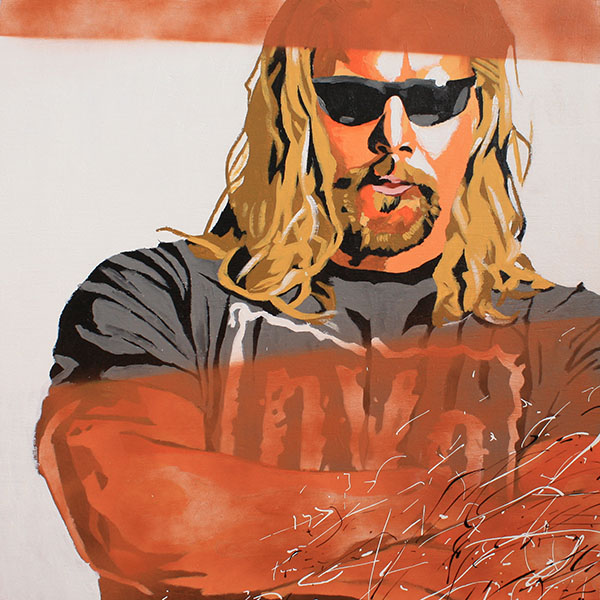 Kevin Nash painting by Rob Schamberger