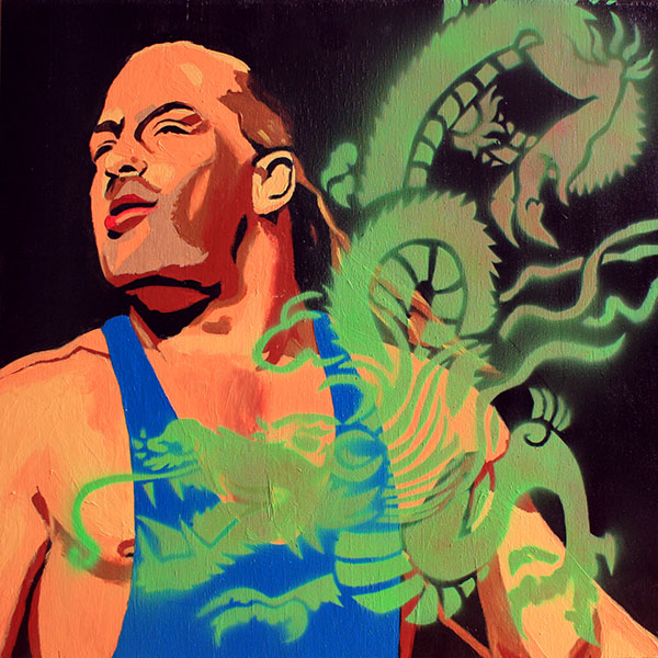 Rob Van Dam painting by Rob Schamberger