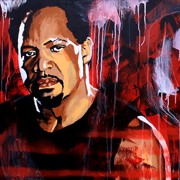 Ron Simmons painting by Rob Schamberger