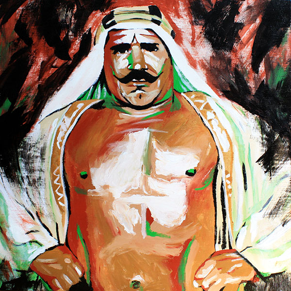 Iron Sheik painting by Rob Schamberger