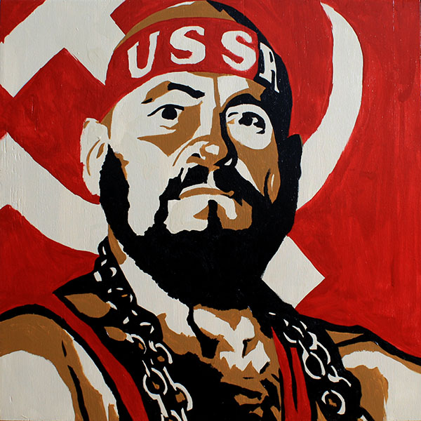 Ivan Koloff painting by Rob Schamberger