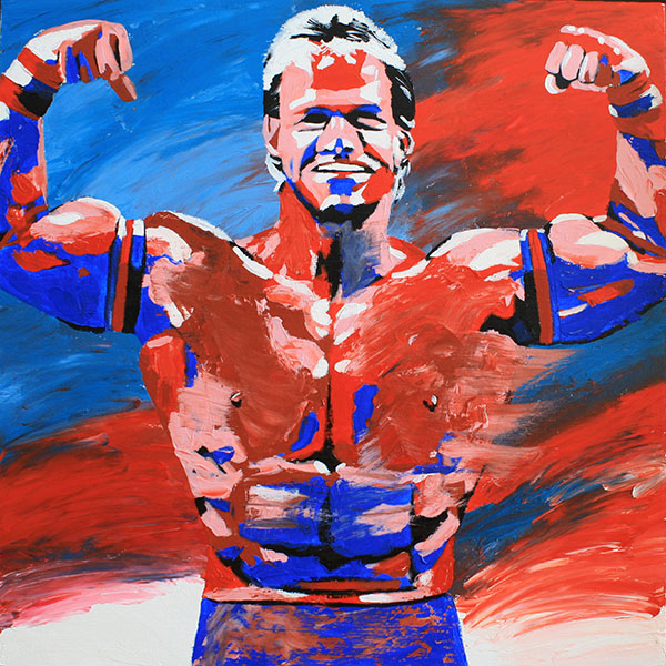 Lex Luger painting by Rob Schamberger