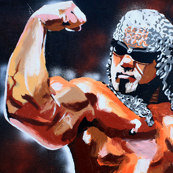 Scott Steiner painting by Rob Schamberger