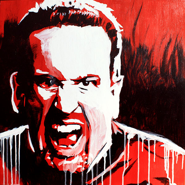 Tommy Dreamer painting by Rob Schamberger