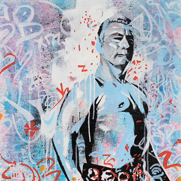 Buddy Rogers painting by Rob Schamberger