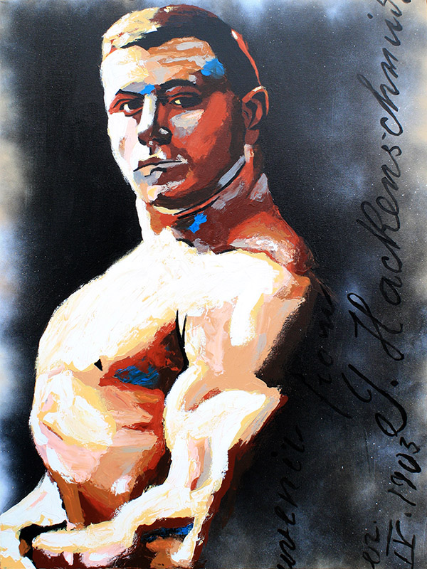 Georg Hackenschmidt painting by Rob Schamberger