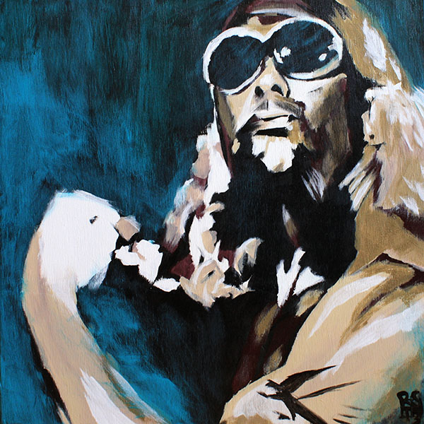 Jimmy Valiant painting by Rob Schamberger