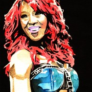"Alicia Fox - Ink and watercolor on 9"" x 12"" watercolor paper"