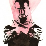 "CM Punk - Ink and watercolor on 9"" x 12"" watercolor paper"