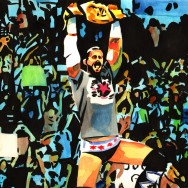 "CM Punk - Ink and watercolor on 18"" x 12"" watercolor paper"