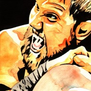 "Curtis Axel - Ink and watercolor on 9"" x 12"" watercolor paper"