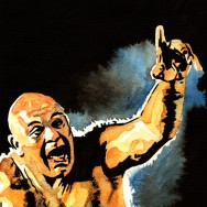 "George 'The Animal' Steele - Ink and watercolor on 9"" x 12"" watercolor paper"