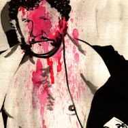 "Harley Race - Ink and watercolor on 9"" x 12"" watercolor paper"